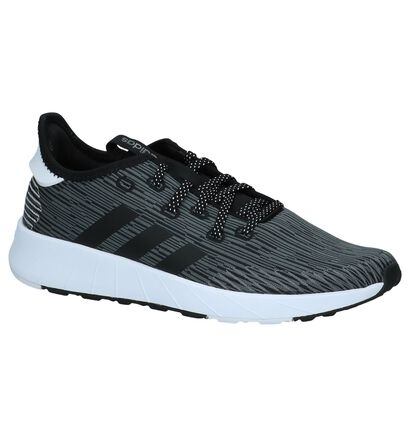 Grijze Sneakers adidas Questar X Byd in stof (237053)