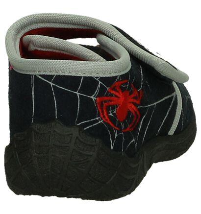 Spiderman Pantoufles fermées en Bleu foncé en textile (202847)