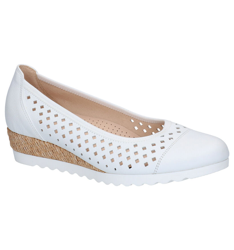Gabor Easy Walking Witte Pumps in leer (271503)