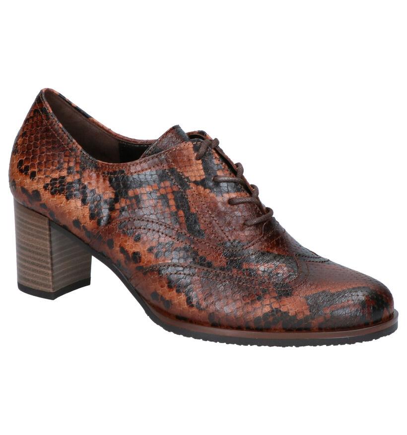 Best Fitting Chaussures à lacets en Brun foncé en cuir (260234)