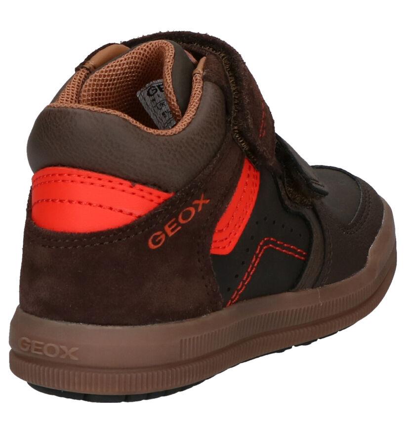Geox Chaussures hautes en Bleu foncé en cuir (254506)