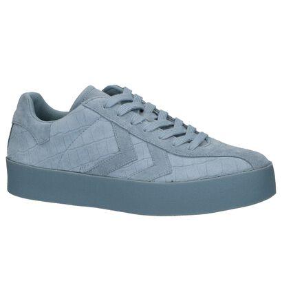 Hummel Grijze Lage Sneakers in daim (225844)