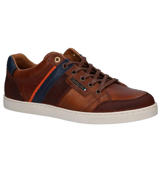 Pantofola d'Oro Palme Low Chaussures à lacets en Cognac