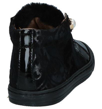 Poldino Chaussures hautes en Noir en cuir verni (224083)