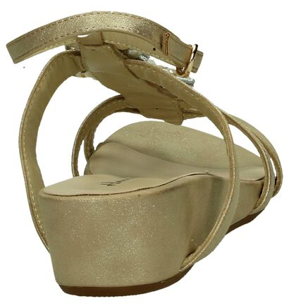 Alma en Pena Sandales à talons en Or en simili cuir (195948)