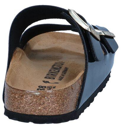 Birkenstock Arizona Nu-pieds plates en Noir en cuir verni (242501)