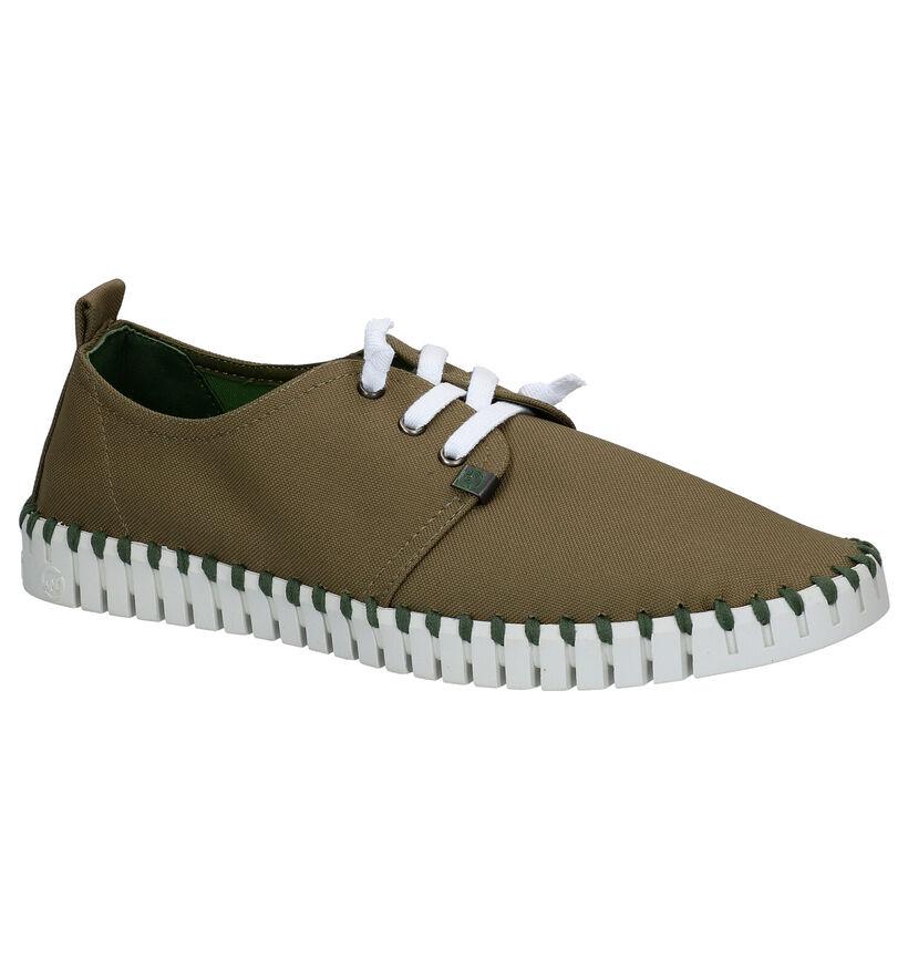 Slowwalk Fosil Sea Chaussures Slip-on en Kaki en textile (275052)