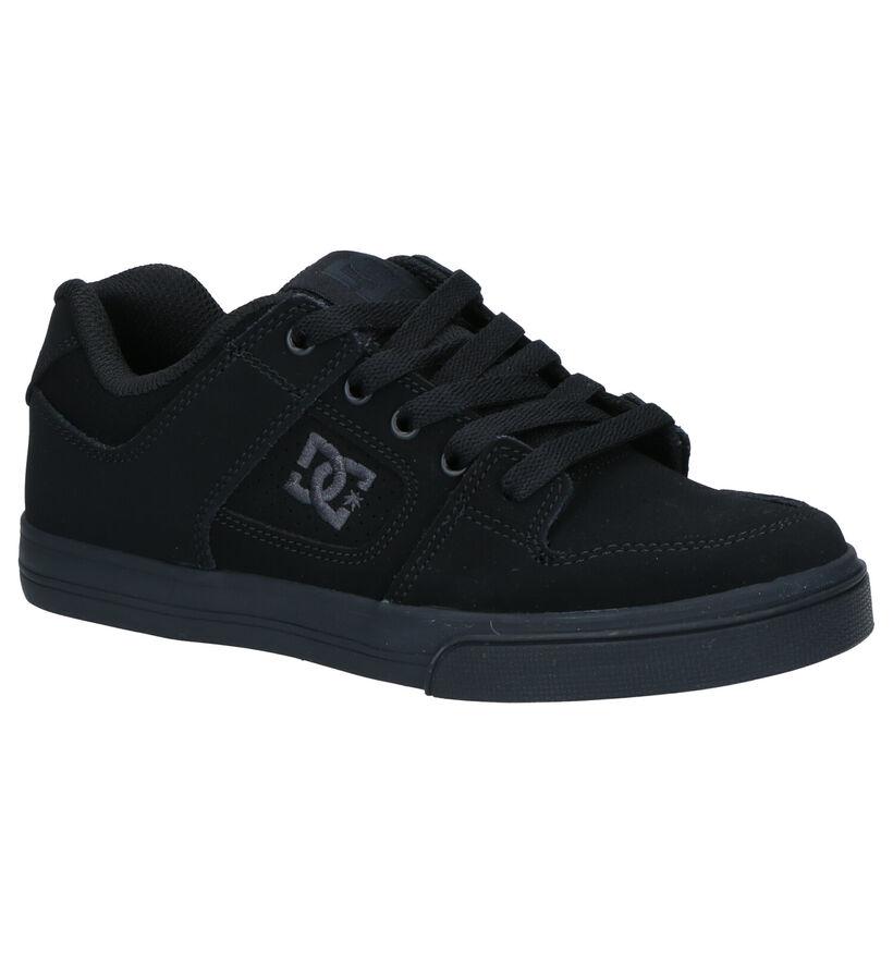 DC Shoes Pure Zwarte Skateschoenen in stof (263589)