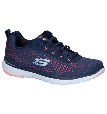 Skechers Blauwe Sneakers in stof (254206)