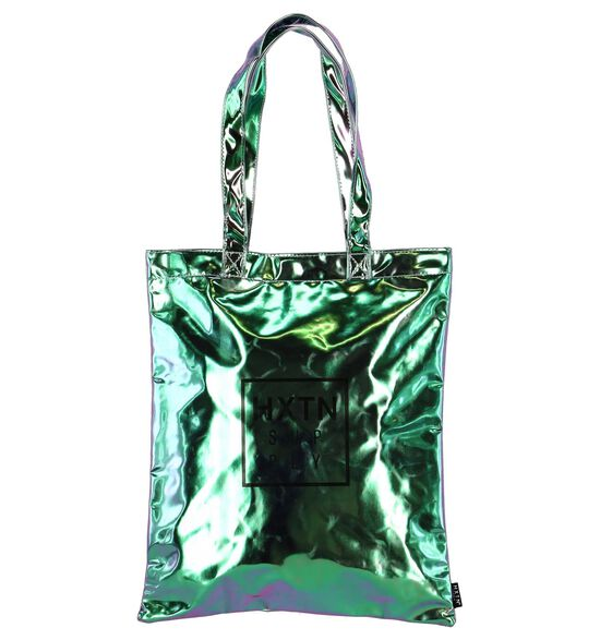 Roos/Groene Metallic Shopper HXTN One Tote