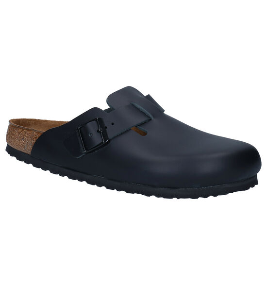 Birkenstock Boston Zwarte Slippers