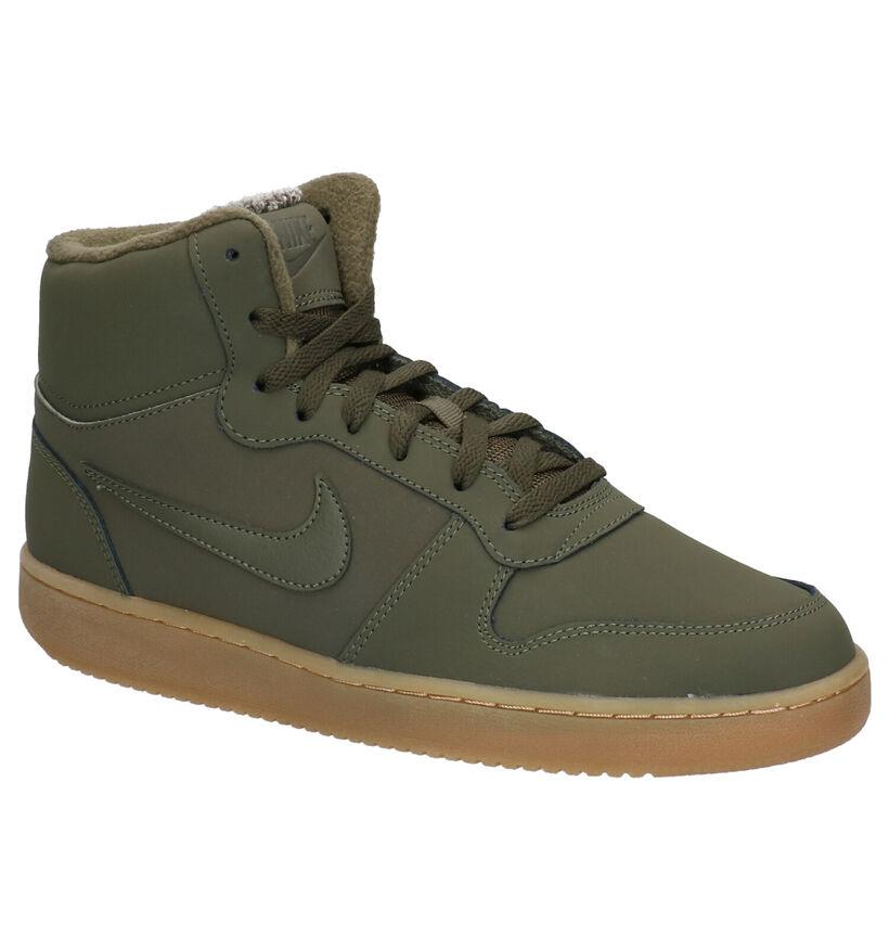 Nike Ebernon Zwarte Sneakers in kunstleer (262200)
