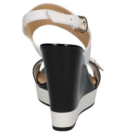 Geox Sandales à talons en Blanc en cuir (220218)