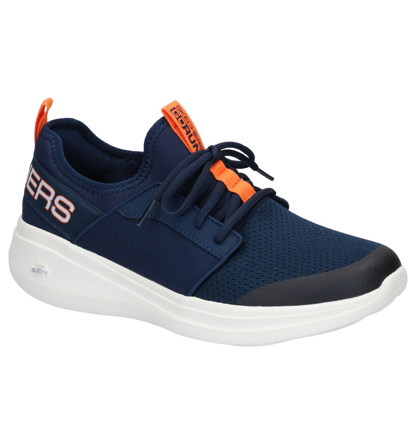 Skechers Go Run Baskets Slip-on en Bleu en textile (272837)
