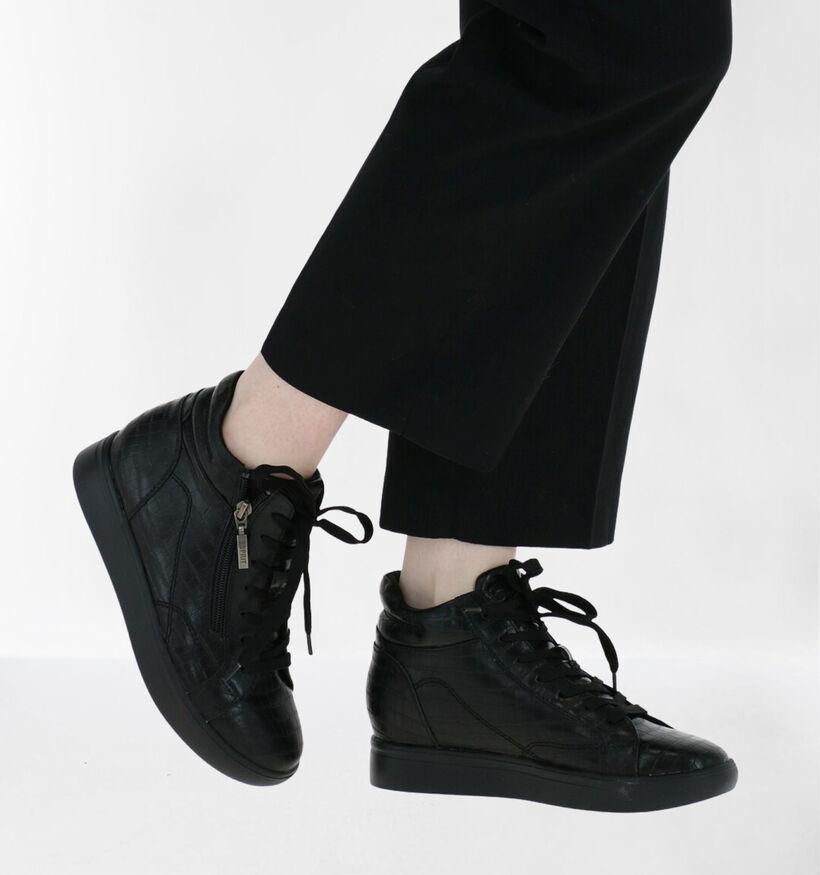 Esprit Granada Baskets Haute en Noir en simili cuir (279622)