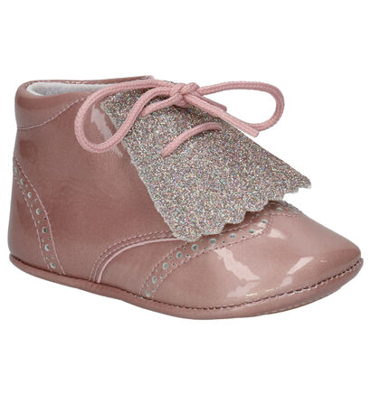 Beberlis Roze Babyschoentjes in lakleer (258908)