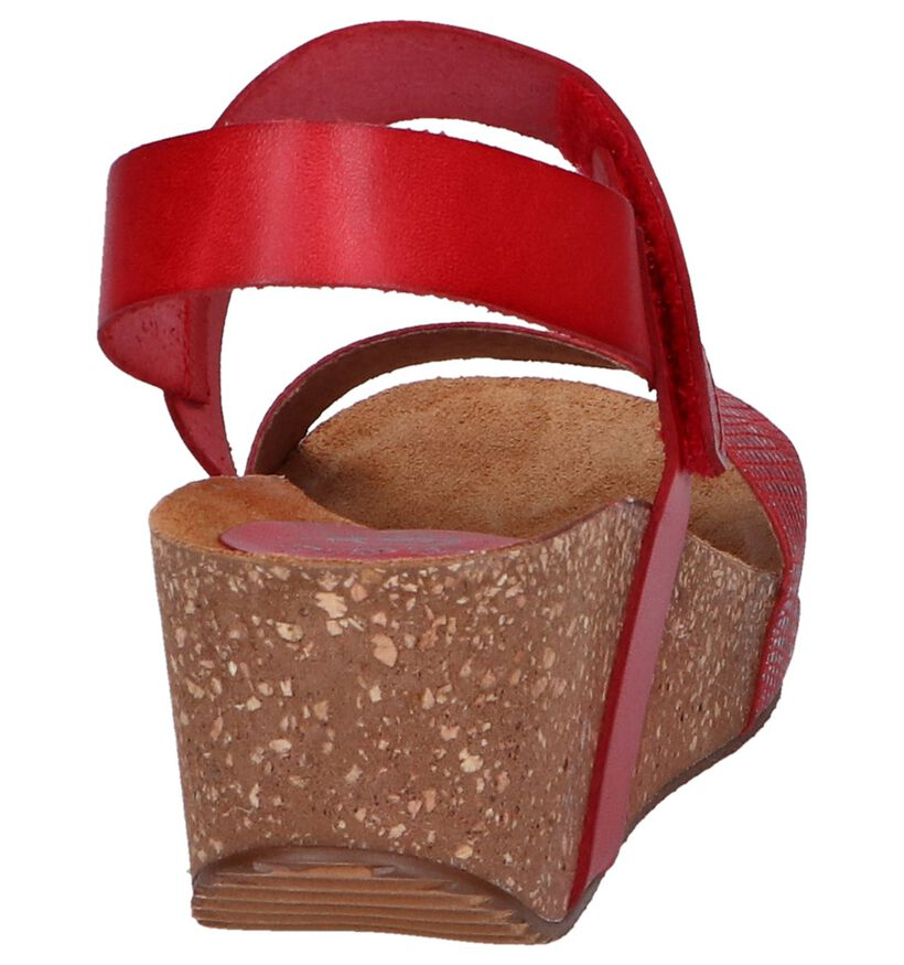 Rode Sandalen Hee in leer (244429)