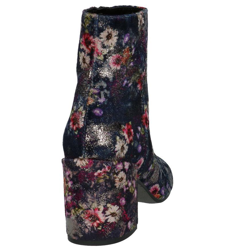 Louisa Bottillons en Multicolore en velours (205525)