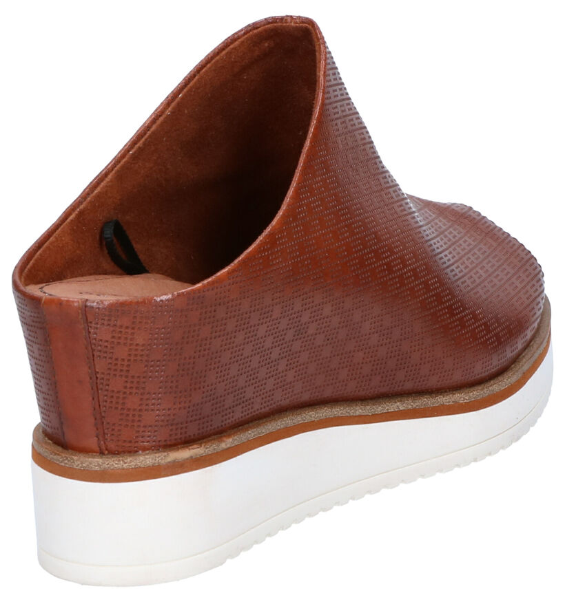 Tamaris Nu-pieds à talons en Cognac en cuir (269788)