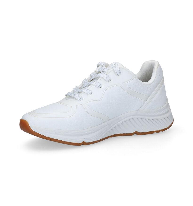 Skechers Arch Fit Witte Sneakers in kunstleer (293938)