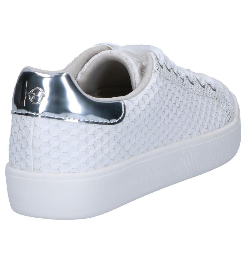 Tamaris Chaussures à lacets en Blanc en simili cuir (270215)