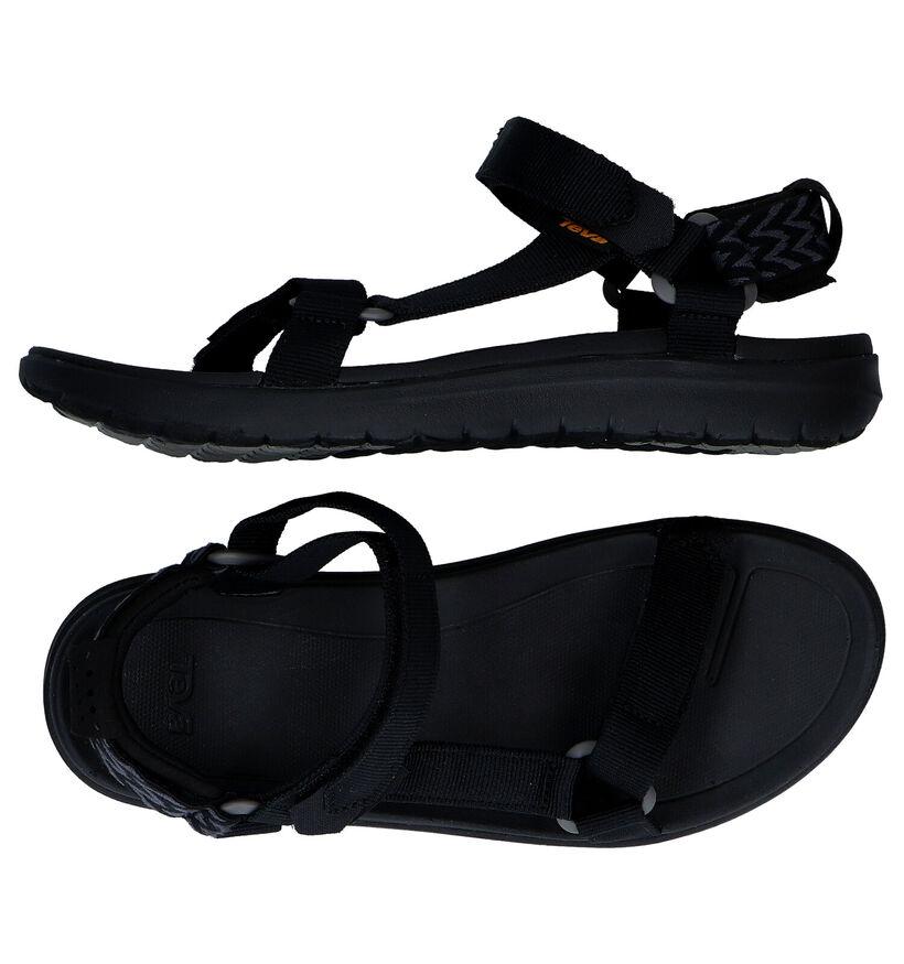 Teva Sanborn Zwarte Sandalen in stof (270636)