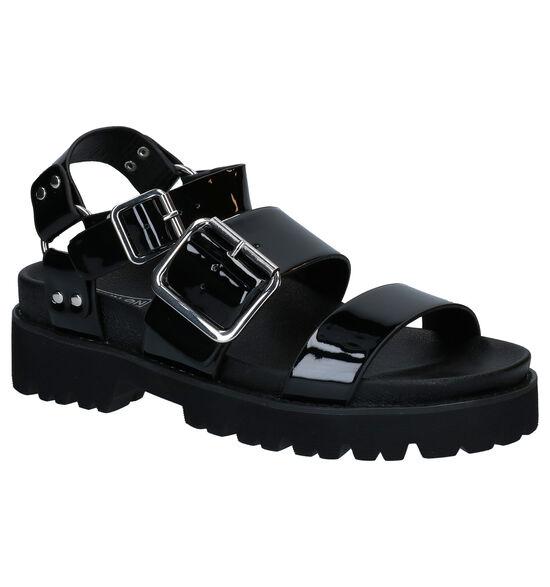 No Name June Ankle Zwarte Sandalen
