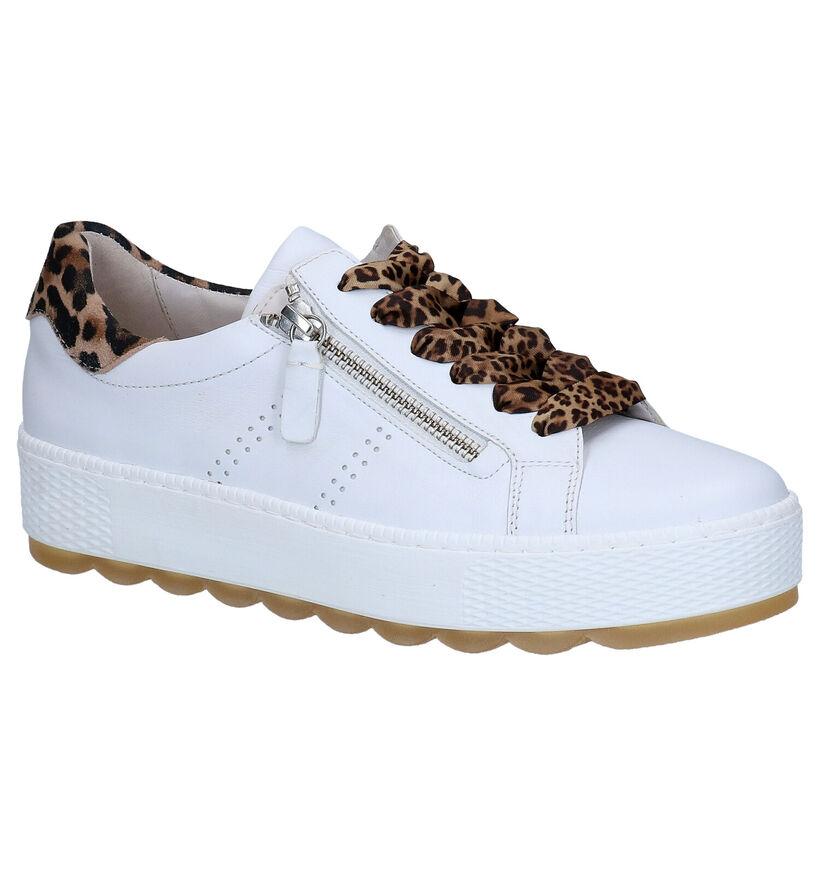 Gabor OptiFit Chaussures à lacets en Blanc en cuir (271559)