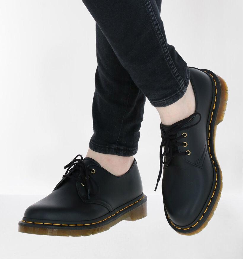 Dr. Martens 1461 Vegan Chaussures à Lacets en Noir en simili cuir (277089)