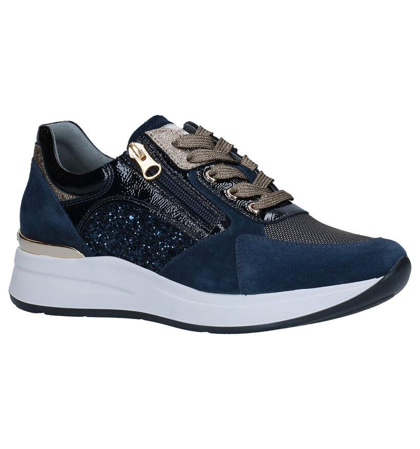 NeroGiardini Chaussures à lacets en Bleu foncé en cuir (278973)