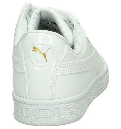 Zalmroze Lage Sportieve Sneakers Puma Basket Heart Patent in imitatieleer (209961)
