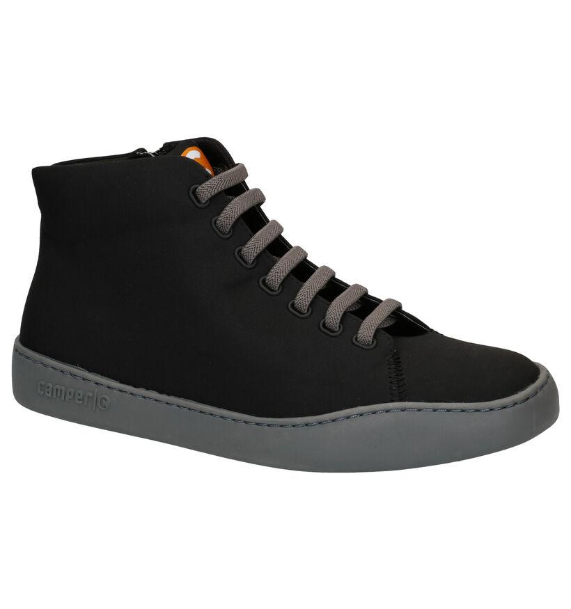 Camper Chaussures hautes en Noir en textile (282115)