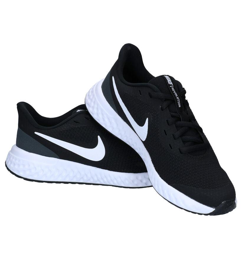 Nike Revolution Baskets en Noir en textile (284494)