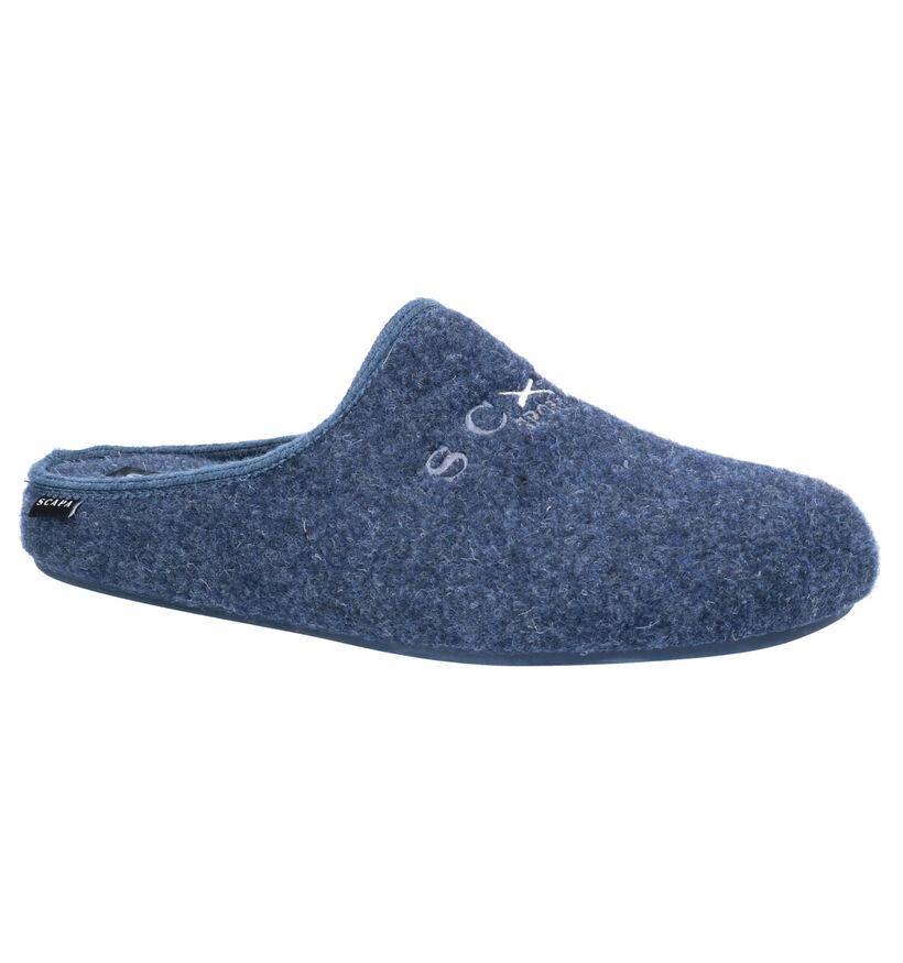 Scapa Blauwe Pantoffels in stof (259117)