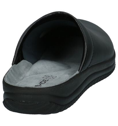 Rohde Pantoufles ouvertes en Noir en simili cuir (209036)