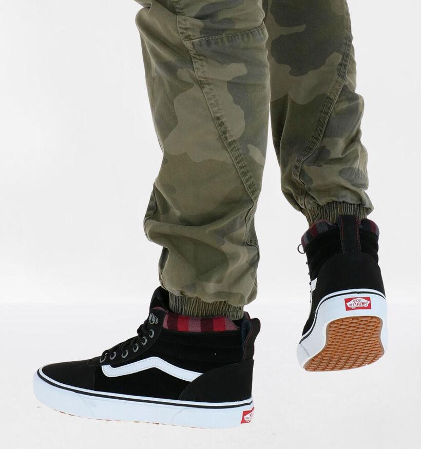 Vans Ward Zwarte Sneakers in daim (288390)