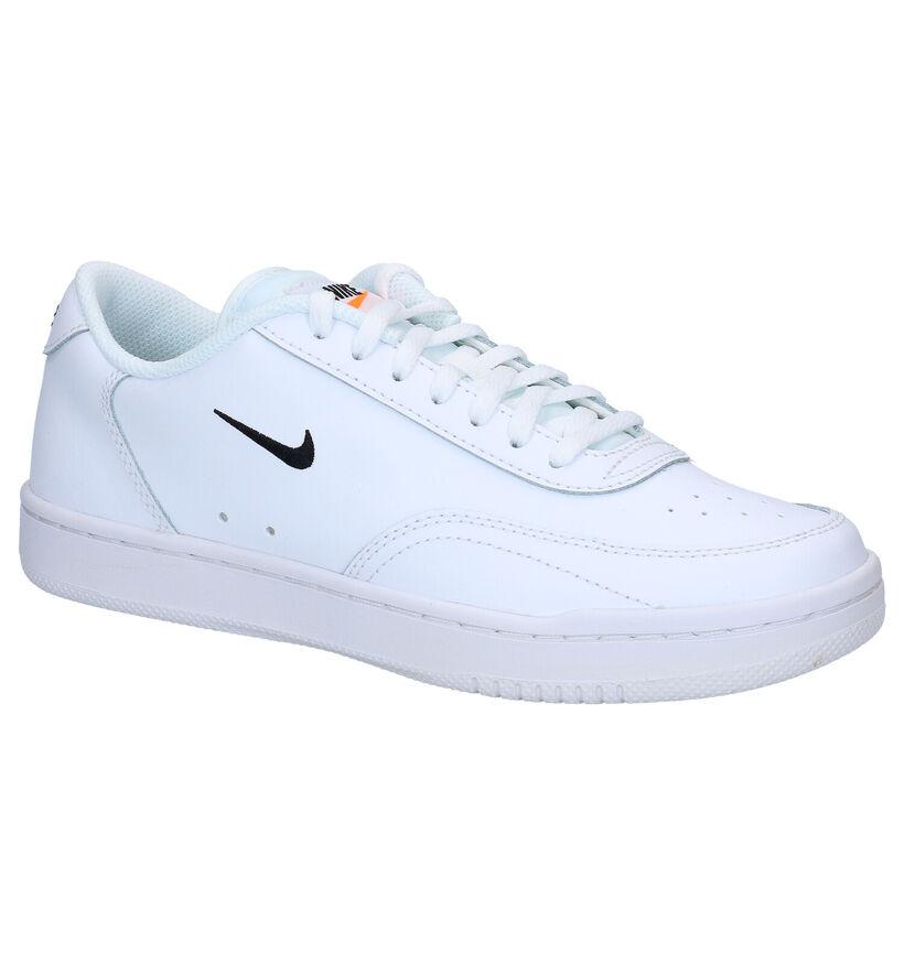 Nike Court Vintage Witte Sneakers in leer (277463)