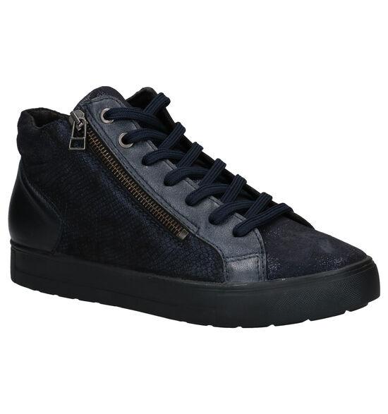 Mirel Blauwe Hoge Sneakers