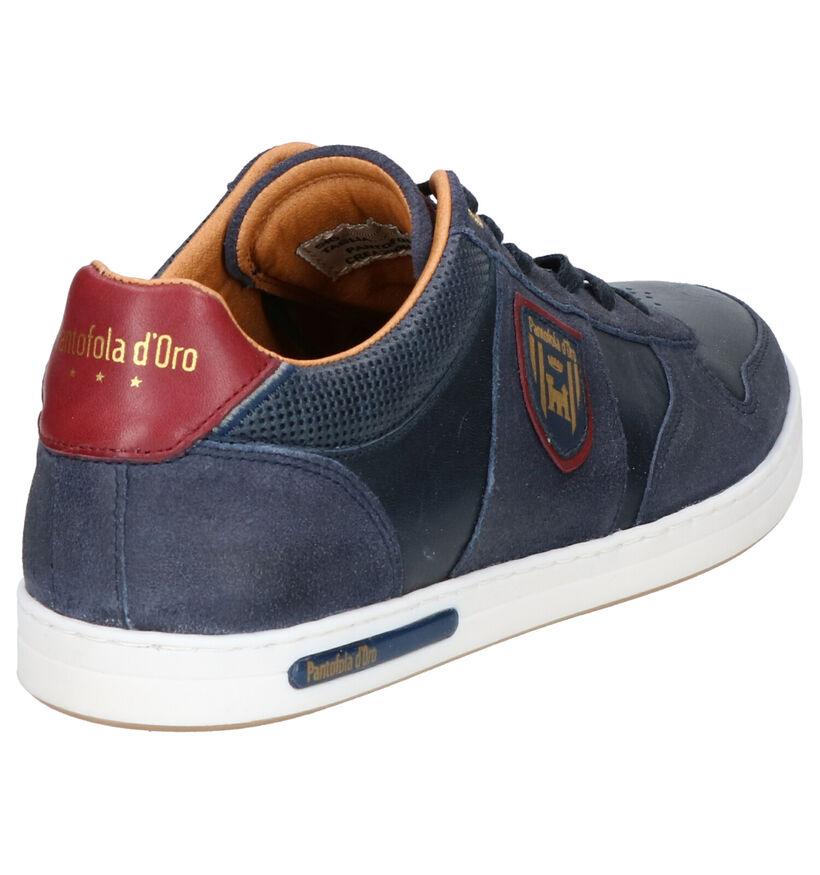 Pantofola d'Oro Milito Low Blauwe Veterschoenen in leer (286405)