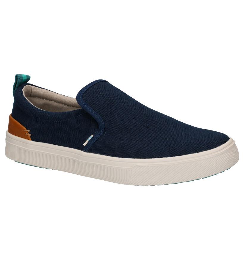 Toms Chaussures slip-on en Bleu en simili cuir (269362)