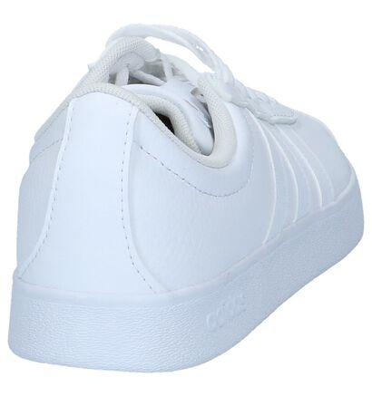 adidas VL Court 2.0 Zwarte Sneakers in leer (252576)