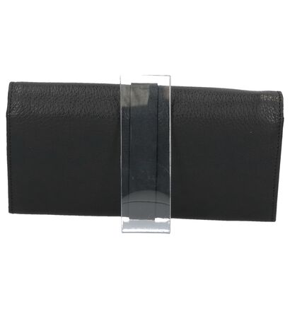 Zwarte Crinkles Overslagportemonnee, Zwart, pdp