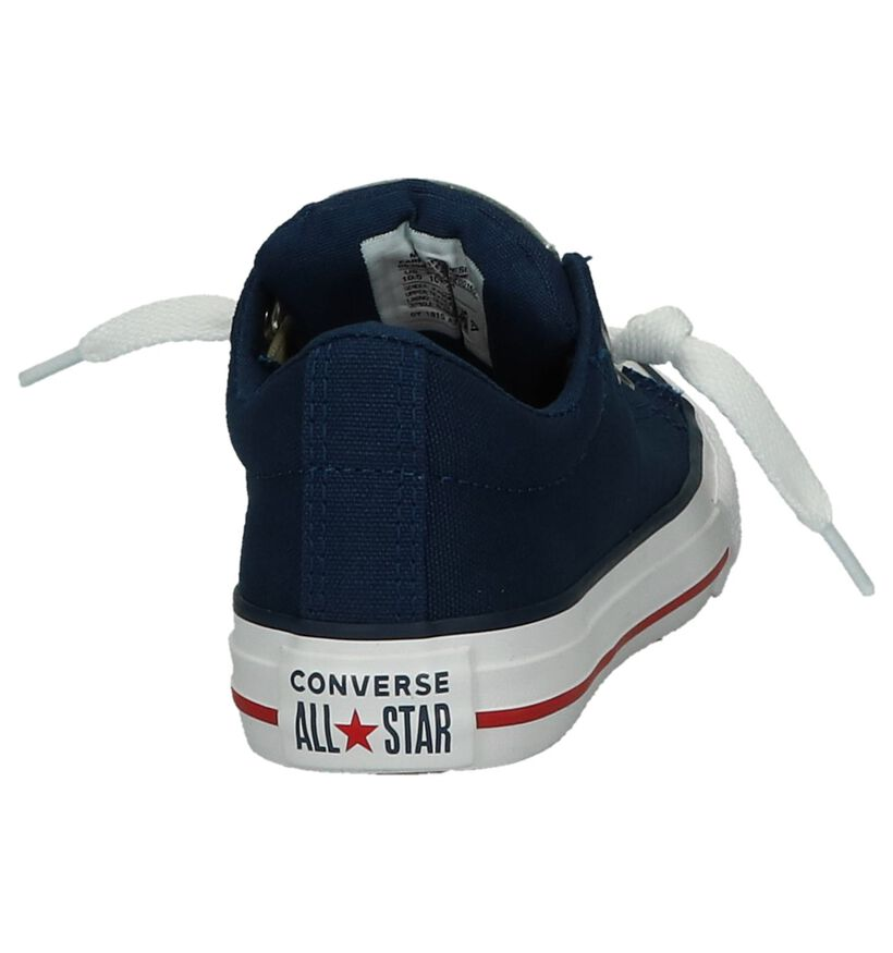 Converse Baskets slip-on en Bleu foncé en textile (238420)