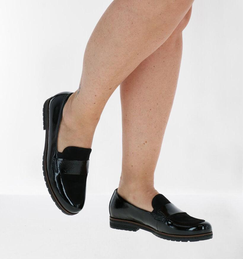 Gabor Easy Walking Loafers en Noir en cuir verni (282274)