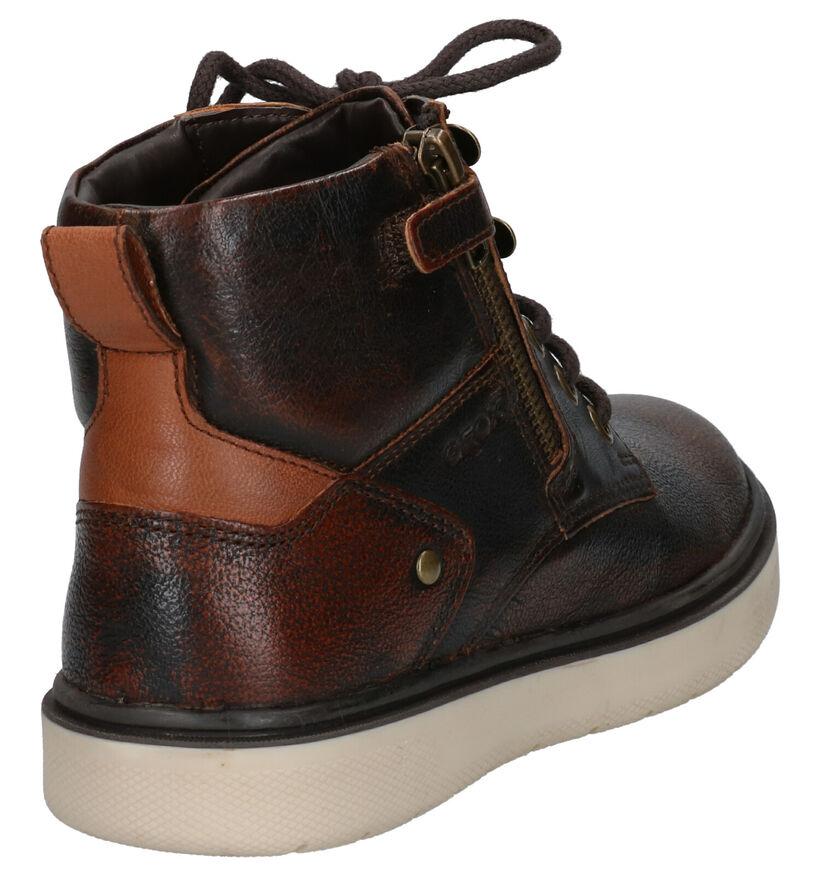 Geox Chaussures hautes en Brun foncé en cuir (254530)