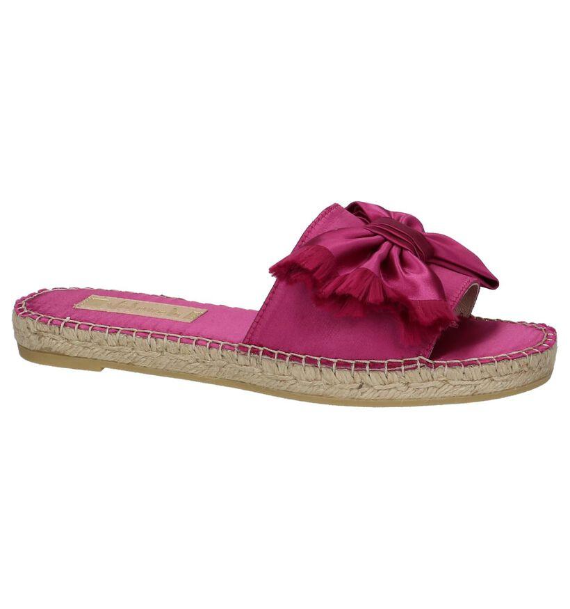 Vidorreta Nu-pieds en Rose fuchsia en textile (220246)
