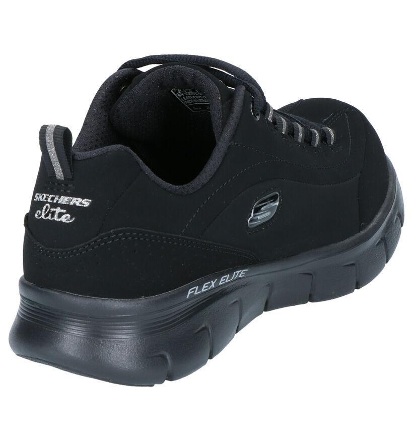 Skechers Synergy Zwarte Sneakers in stof (263228)