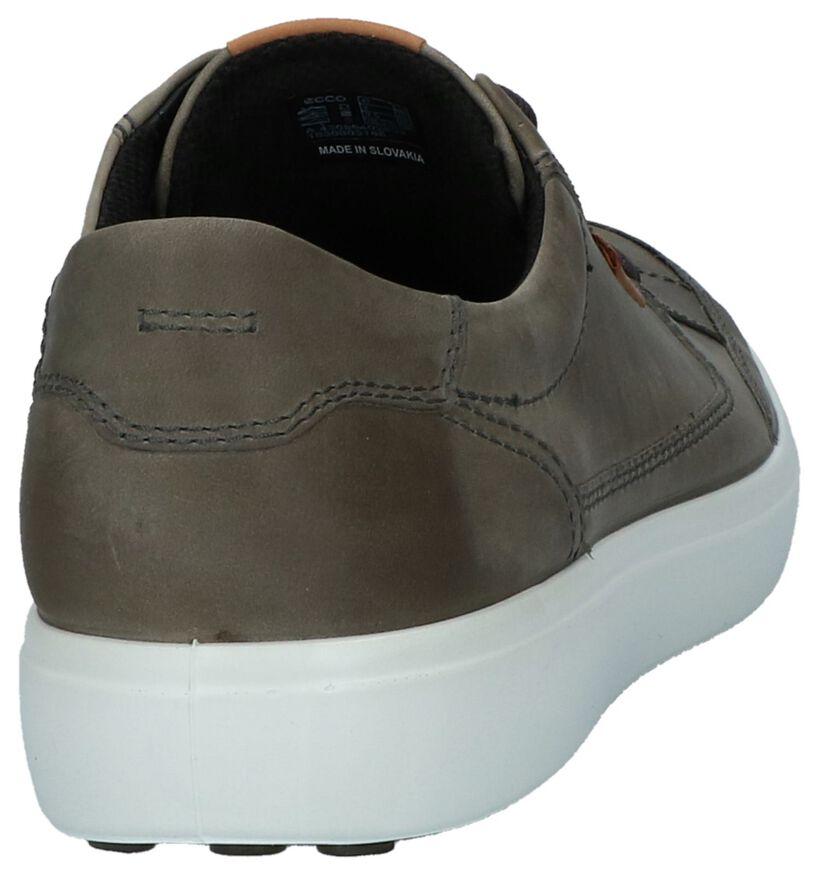 ECCO Soft 7 Chaussures basses en Gris foncé en cuir (235908)