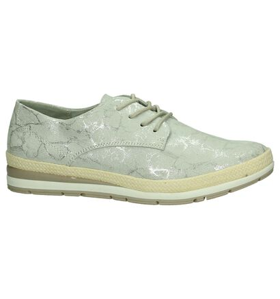 Marco Tozzi Chaussures à lacets en Gris clair en textile (193070)