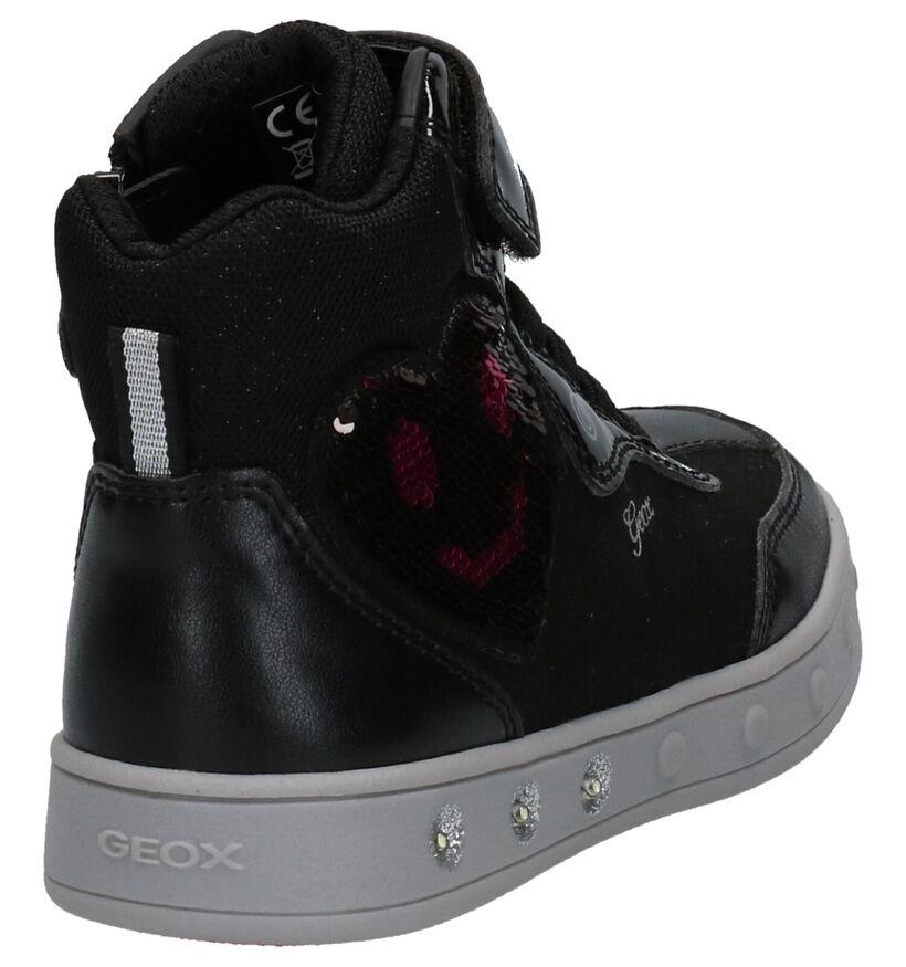 Geox Skylin Girl Baskets en Noir en cuir verni (262013)
